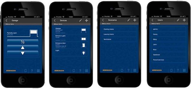 BiSecure-Gateway koos nutitelefoni rakendusega